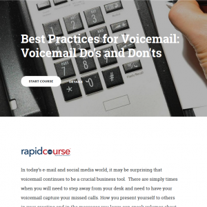 Best Practices for Voicemail