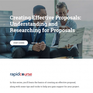 Creating Effective Proposals