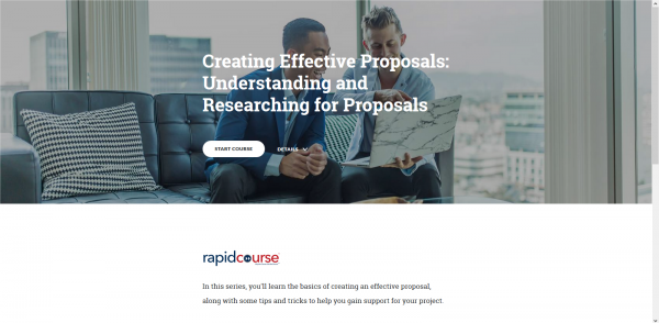 Creating Effective Proposals