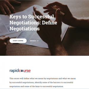 Keys to Successful Negotiations