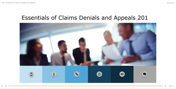 Essentials of Claims, Denials